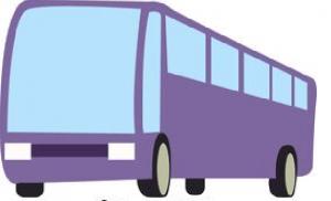 Purple bus image
